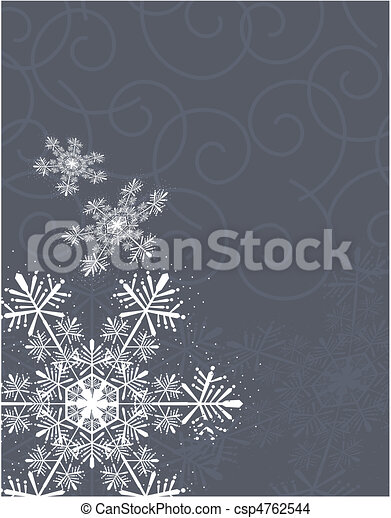 snowflakes and curl background - csp4762544