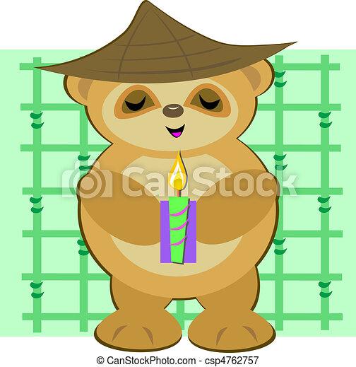 Peaceful Bear Monk - csp4762757