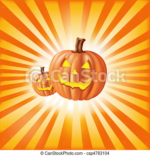 Pumpkins Against Sun Rays - csp4763104