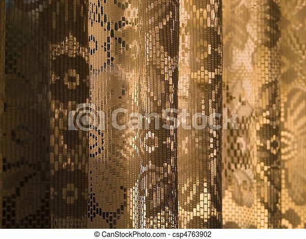 photo de beau romantique dentelle rideau fen tre soleil csp4763902 recherchez des. Black Bedroom Furniture Sets. Home Design Ideas