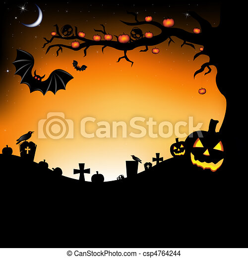 Halloween Illustration - csp4764244