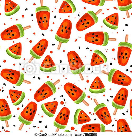 Watermelon seamless pattern - csp47650869