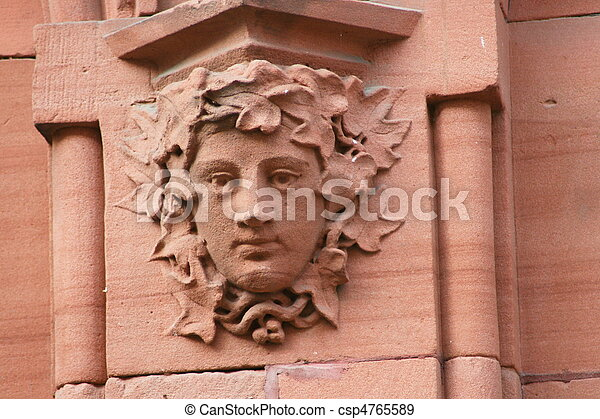 Steinrelief  Stone relief  - csp4765589