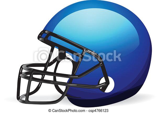 Football Helmet on white - csp4766123