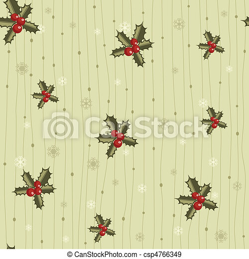 Christmas seamless pattern with holy - csp4766349