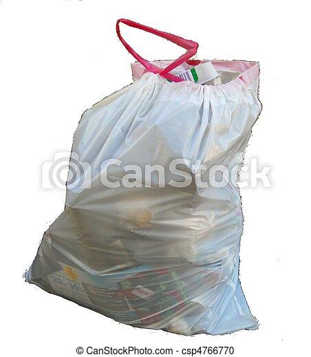 White Trash Bag Stock Photo White Trash Bag