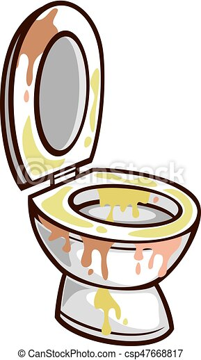 Schüssel clipart  Vektor Clipart von toilette, vektor, schüssel, dreckige ...