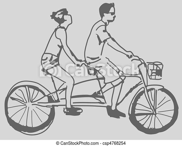 Tandem Bike - csp4768254