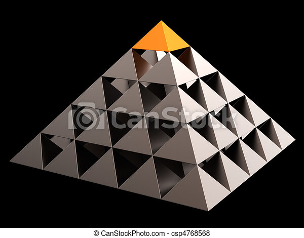 Leadership financial pyramid - csp4768568