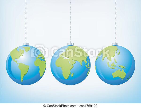 Christmas globe ornaments - csp4769123