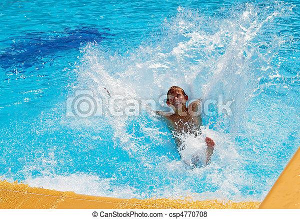 Boy In The Water Park - csp4770708