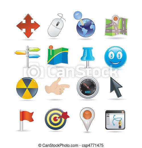 pointers icon set - csp4771475