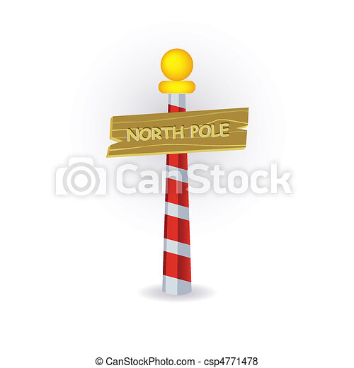 North pole sign - csp4771478