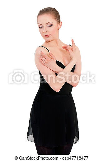 Woman ballerina ballet dancer - csp47718477