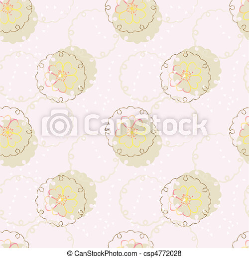 vector japanese background with cherry blossom - csp4772028