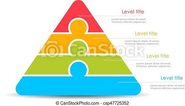 Layered stacked pyramid - csp47725352