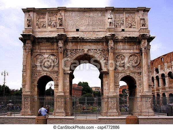 Landmark of Rome, Italy - csp4772886