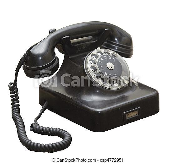 black antique grunge old phone - csp4772951