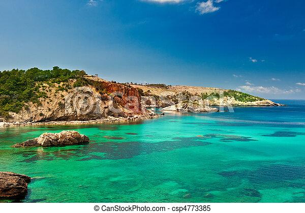 Cala Xarraca,  Ibiza Spain - csp4773385