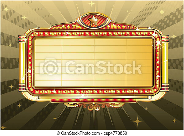 marquee sign  - csp4773850