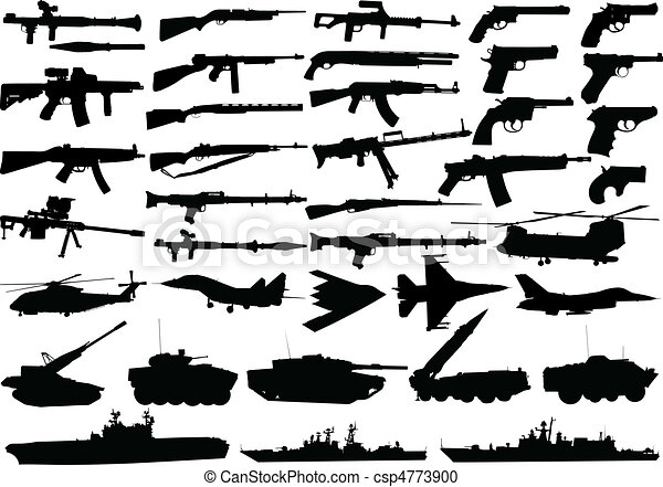 military clipart set  - csp4773900