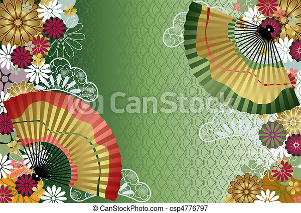 Japanese traditional pattern - csp4776797