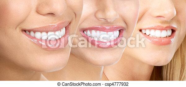 婦女, 牙齒 - csp4777932