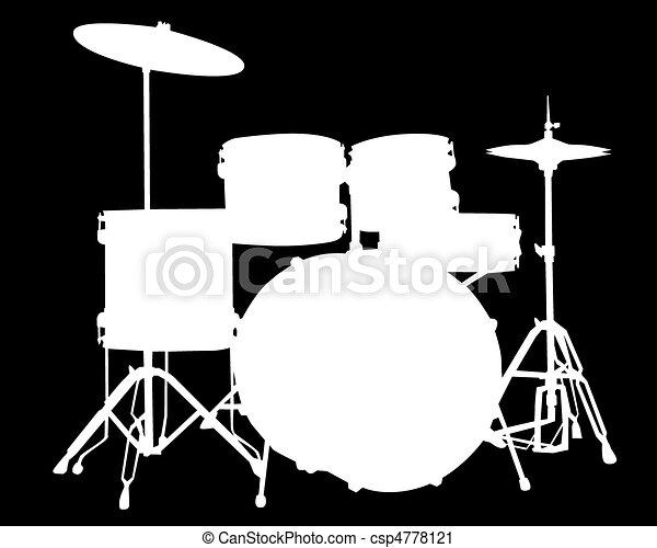 drum-type illustration - csp4778121