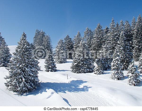 alpes, hiver - csp4778445