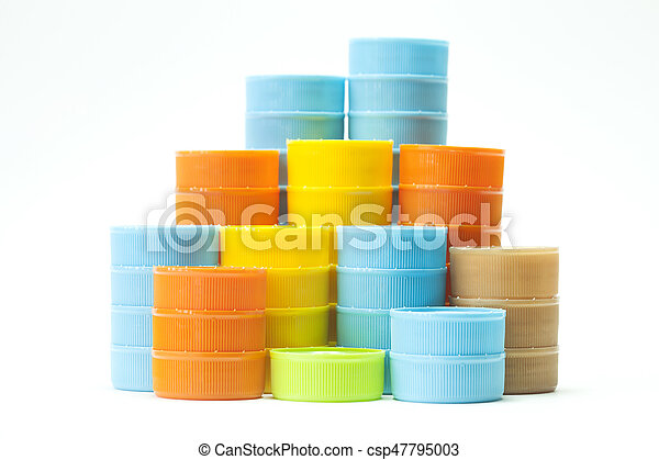 Colorful plastic bottle screw caps - csp47795003