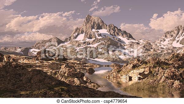Banner Peak Sierra Nevada - csp4779654