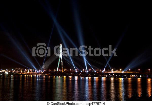 The light festival Staro Riga (Beaming Riga) - csp4779714