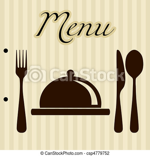 Restaurant menu background - csp4779752