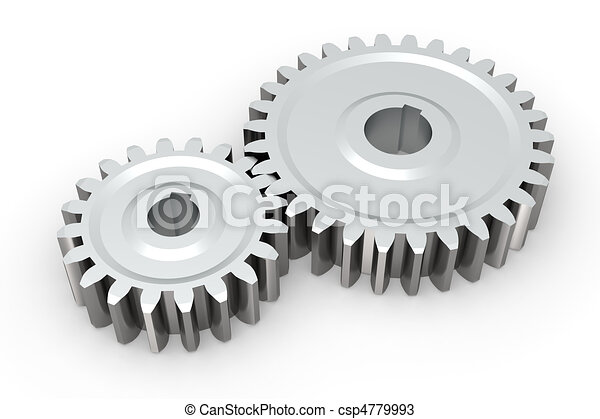 Connecting gears - csp4779993