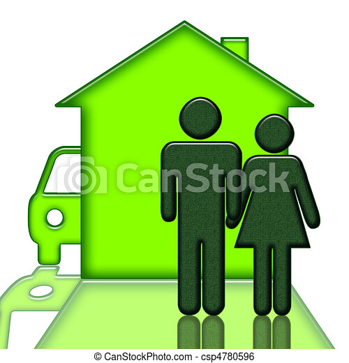 People Home and Car - csp4780596