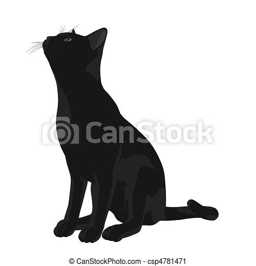 Cat Illustration - csp4781471