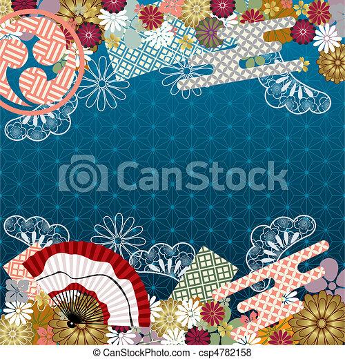 Japanese traditional pattern - csp4782158