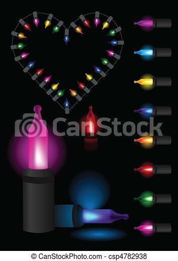 Festive christmas glow light heart - csp4782938