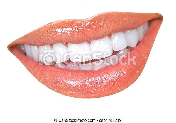 婦女, 牙齒 - csp4783219