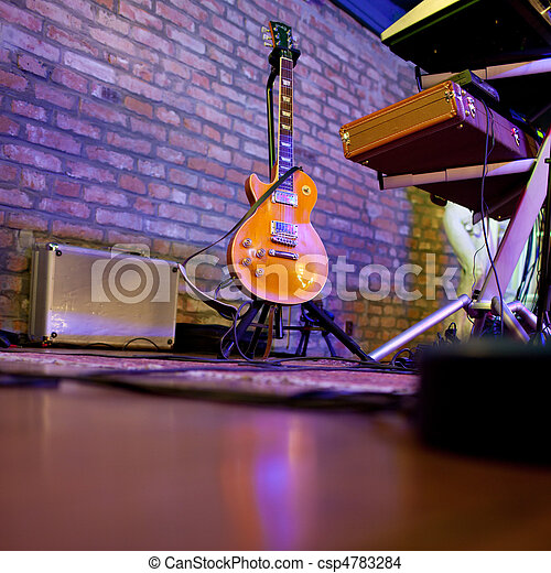 stage in a music club