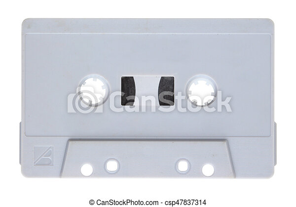 Audio cassette isolated on background - csp47837314