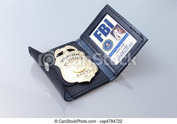 FBI badge  - csp4784722