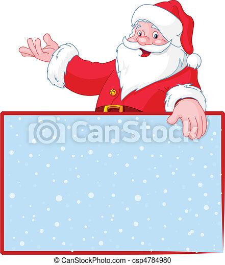Christmas Santa Claus over blank g - csp4784980