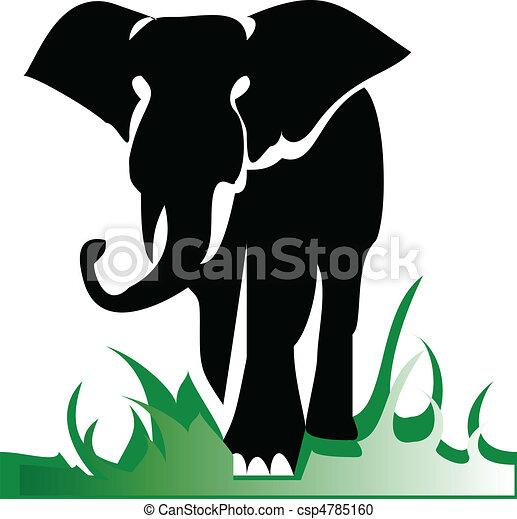 elephant alone illustration - csp4785160