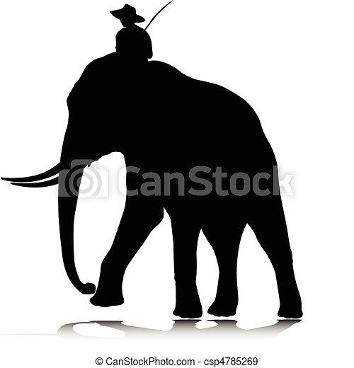 Thai Elephant Vector Elephant And Man Vector