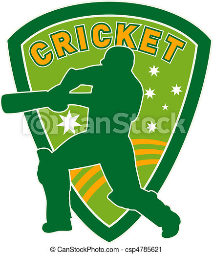 cricket sports player batsman bat - csp4785621