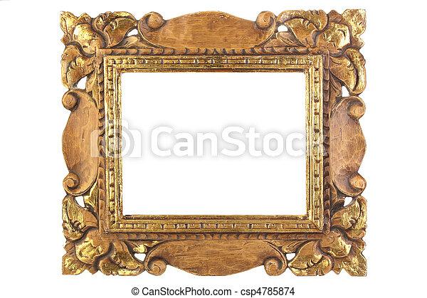 anticaglia, immagine, cornice - csp4785874