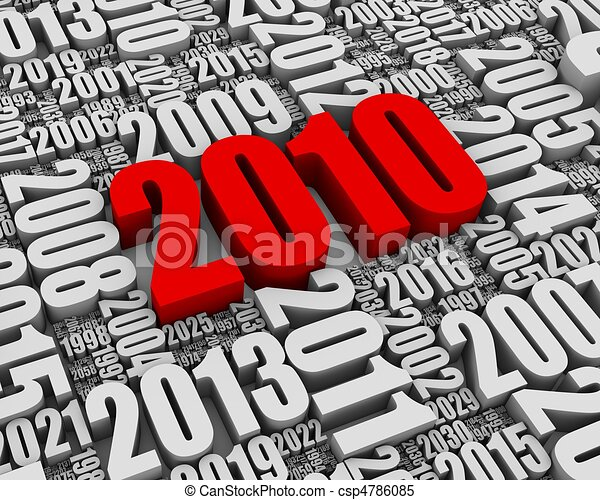 Year 2010 AD - csp4786085