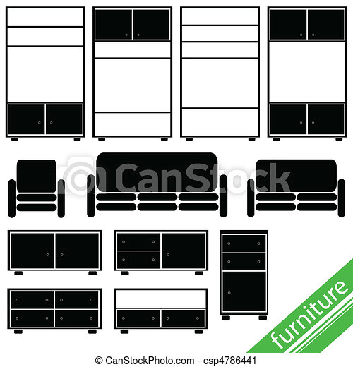 furniture in black for home - csp4786441
