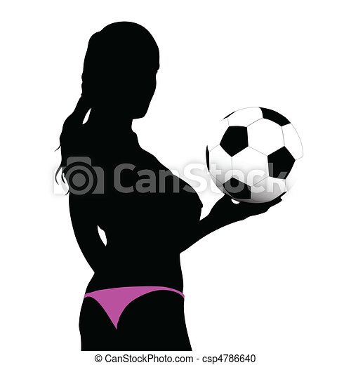 girl holding the ball in his hand - csp4786640